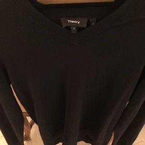 Unisex oversized black v-neck sweater